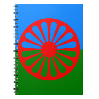 Flag of the Romani people - Romani flag Notebook