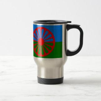 Flag of the Romani people - Romani flag Travel Mug
