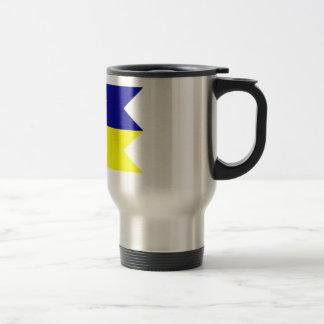 Flag of the Satakunta Region in Finland Travel Mug