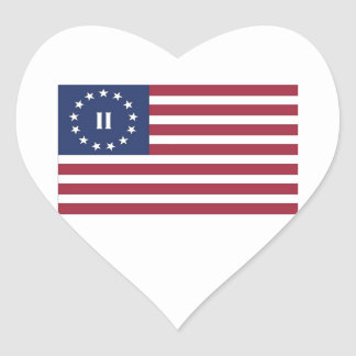 Flag  of the Second American Revolution Heart Sticker