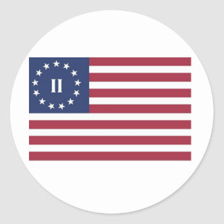 Flag  of the Second American Revolution Stickers