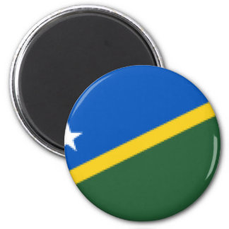 Flag_of_the_Solomon_Islands 2 Inch Round Magnet