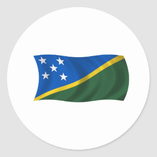 Flag of the Solomon Islands Classic Round Sticker