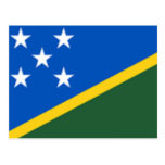 Flag of the Solomon Islands Post Card