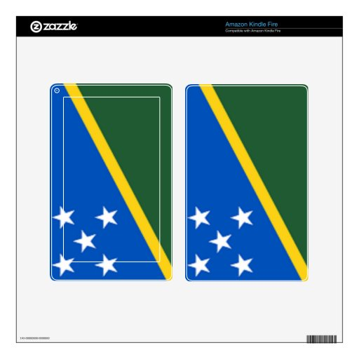 Flag of the Solomon Islands Skins For Kindle Fire