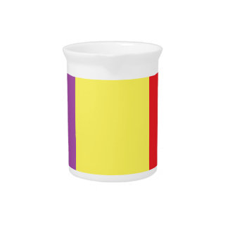Flag of the Spanish Republic - Bandera Tricolor Beverage Pitcher