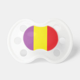 Flag of the Spanish Republic - Bandera Tricolor Pacifier
