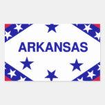 Flag of the state of Arkansas Rectangular Sticker