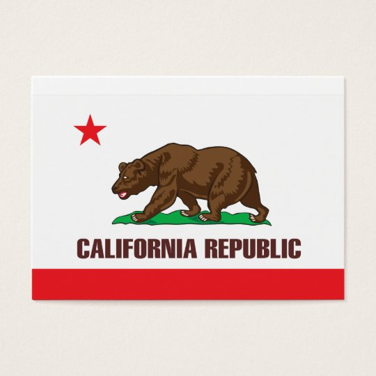 Flag of the state of California Business Card