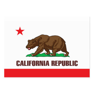 Flag of the state of California Large Business Card