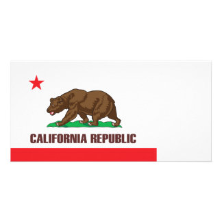 Flag of the state of California Custom Photo Card