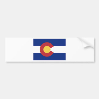 Flag of the State of Colorado Bumper Sticker