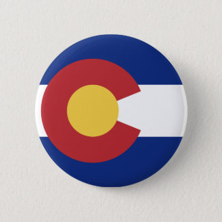 Flag of the State of Colorado Pinback Button