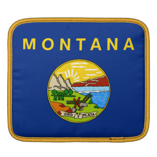 Flag of the State of Montana iPad Sleeves