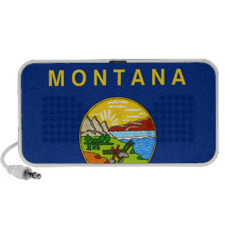 Flag of the State of Montana iPhone Speaker