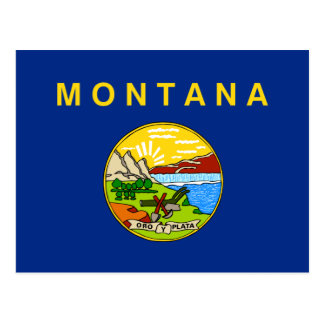 Flag of the State of Montana Postcard