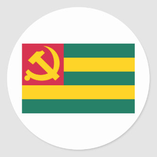 Flag of the Togo Communist Party Classic Round Sticker