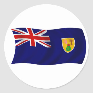 Flag of the Turks and Caicos Islands Round Stickers