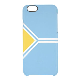 Flag of the Tuva Republic Clear iPhone Case