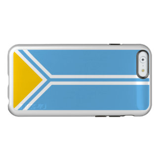 Flag of the Tuva Republic Silver iPhone Case