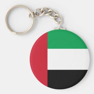 Flag of the United Arab Emirates Basic Round Button Keychain
