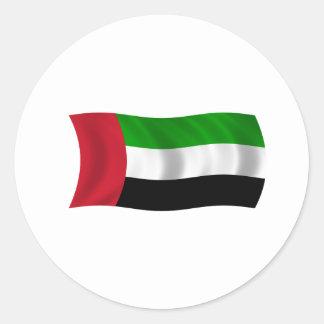 Flag of the United Arab Emirates Classic Round Sticker