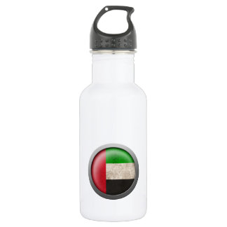 Flag of The United Arab Emirates Disc 18oz Water Bottle