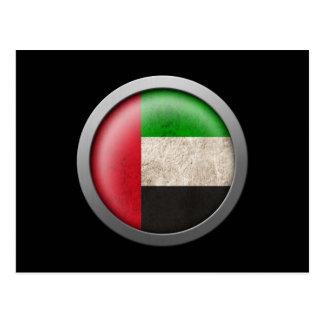 Flag of The United Arab Emirates Disc Postcard