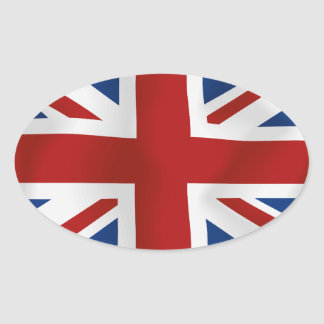 Flag of The United Kingdom #2 rectangle Oval Sticker