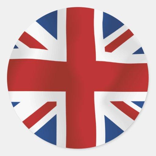 Flag of The United Kingdom Classic Round Sticker