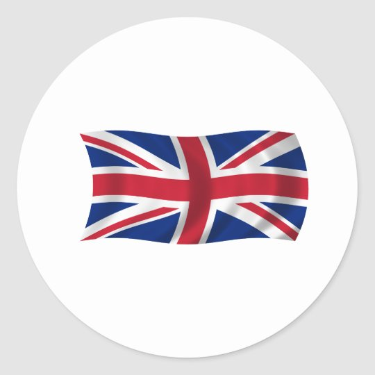 Flag of the United Kingdom Classic Round Sticker