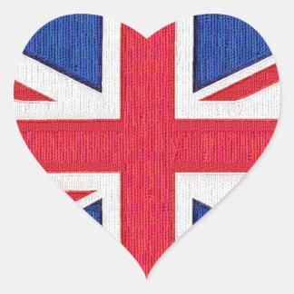 Flag of the United Kingdom  I love the U.K. Heart Sticker