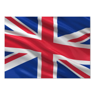 Flag of the United Kingdom 4.5x6.25 Paper Invitation Card