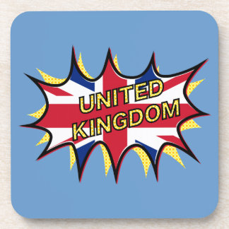 Flag of The United Kingdom KAPOW star burst Coasters