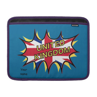 Flag of The United Kingdom KAPOW star burst MacBook Air Sleeve