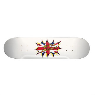 Flag of The United Kingdom KAPOW star burst Skateboard Deck