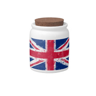Flag of the United Kingdom or the Union Jack Candy Jars