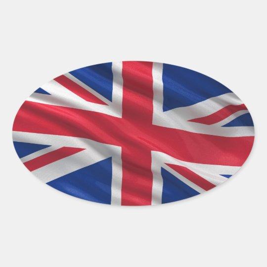Flag of the United Kingdom Oval Sticker
