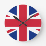 Flag of the United Kingdom Round Wall Clock