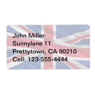 Flag of the United Kingdom Shipping Label