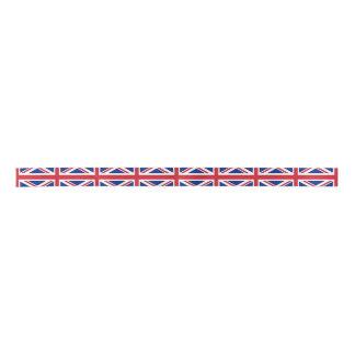 Flag of the United Kingdom. The Union Jack. Satin Ribbon
