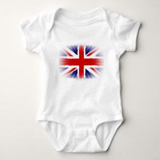 Flag of the United Kingdom The Union Jack Sunburst Baby Bodysuit
