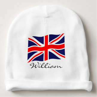 Flag of the United Kingdom + your ideas Baby Beanie