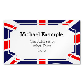 Flag of the United Kingdom + your ideas Magnetic Business Card