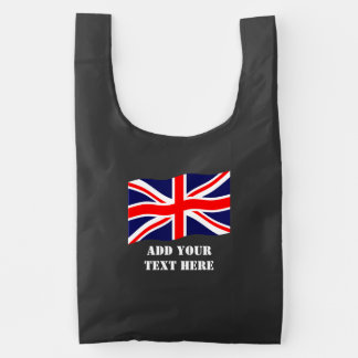 Flag of the United Kingdom + your ideas Reusable Bag