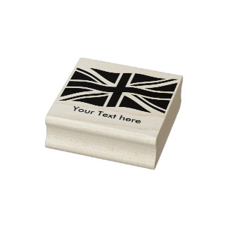 Flag of the United Kingdom + your ideas Rubber Stamp