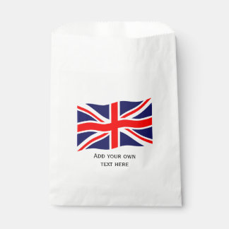 Flag of the United Kingdom + your ideas Favor Bags
