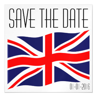 Flag of the United Kingdom + your ideas Magnetic Invitations