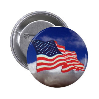 FLAG OF THE UNITED STATES 2 INCH ROUND BUTTON
