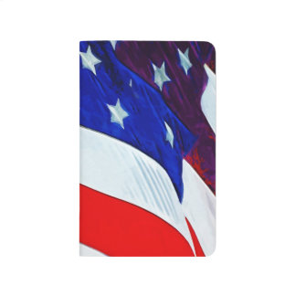 Flag of the United States Abstract Impressionism Journal
